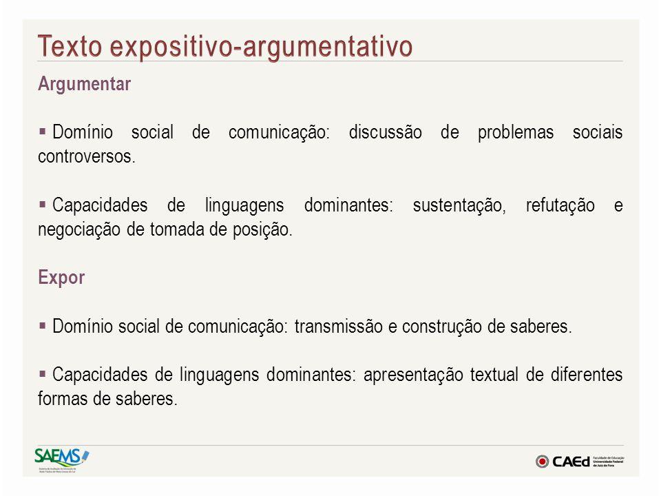 Texto expositivo-argumentativo