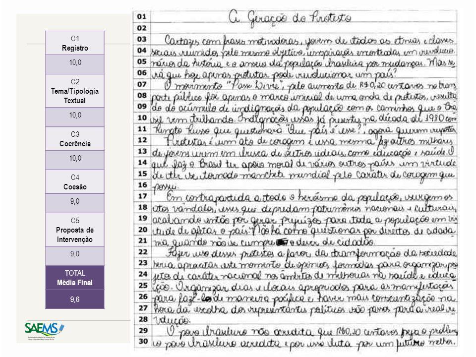 Tema/Tipologia Textual Proposta de Intervenção