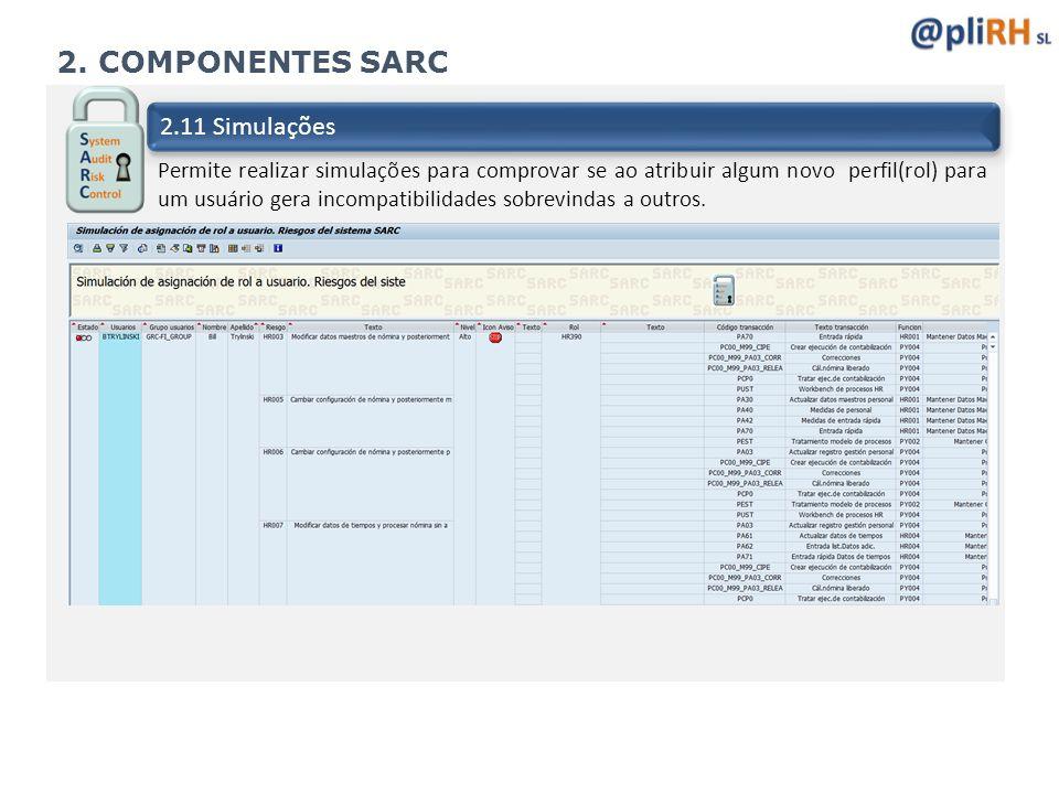 2. COMPONENTES SARC 2.11 Simulações