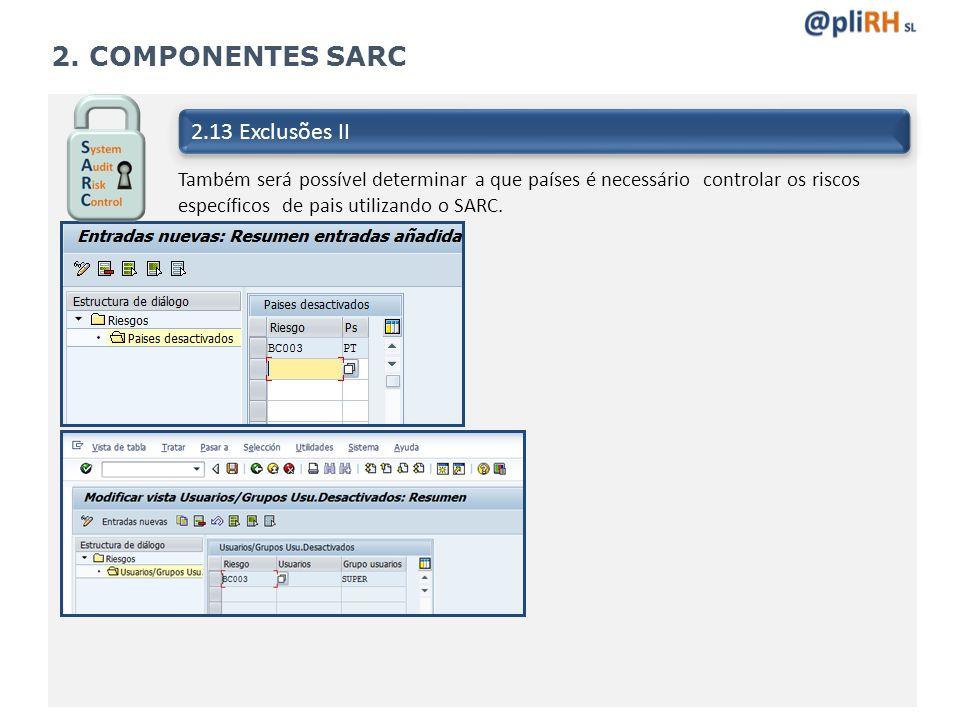 2. COMPONENTES SARC 2.13 Exclusões II