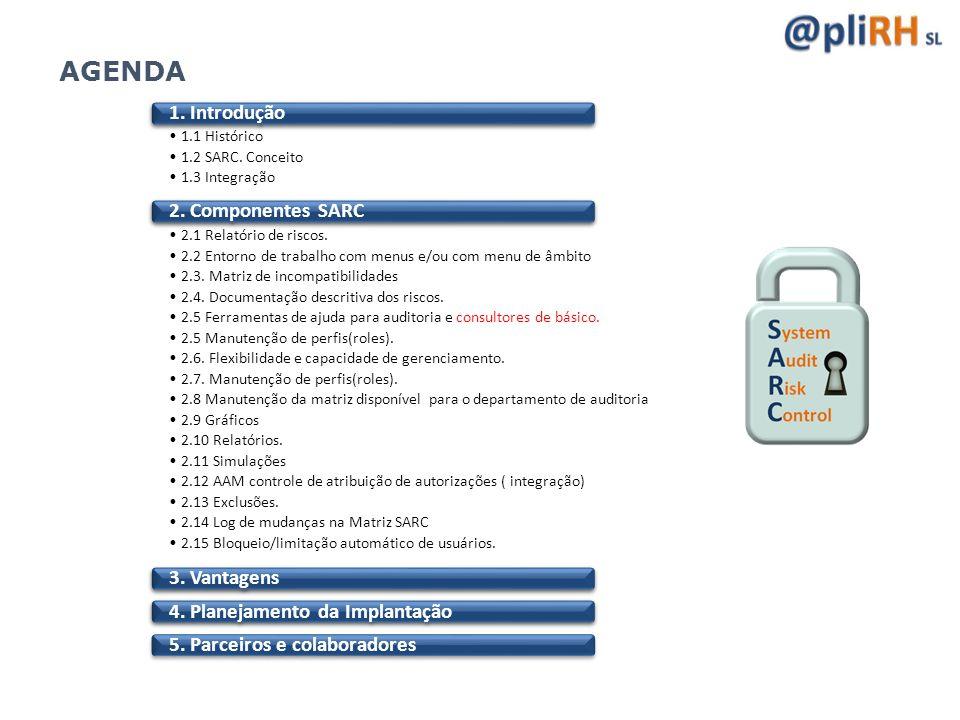 AGENDA 1. Introdução 2. Componentes SARC 3. Vantagens
