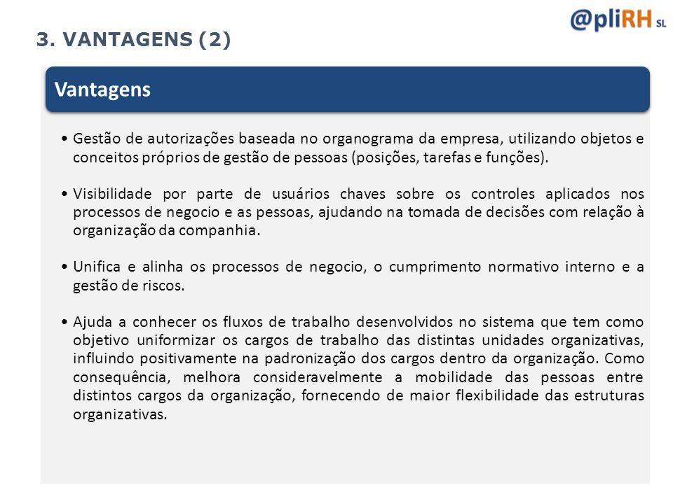 Vantagens 3. VANTAGENS (2)