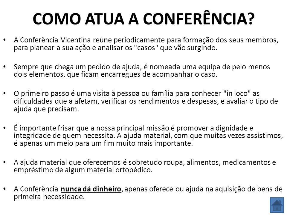 COMO ATUA A CONFERÊNCIA