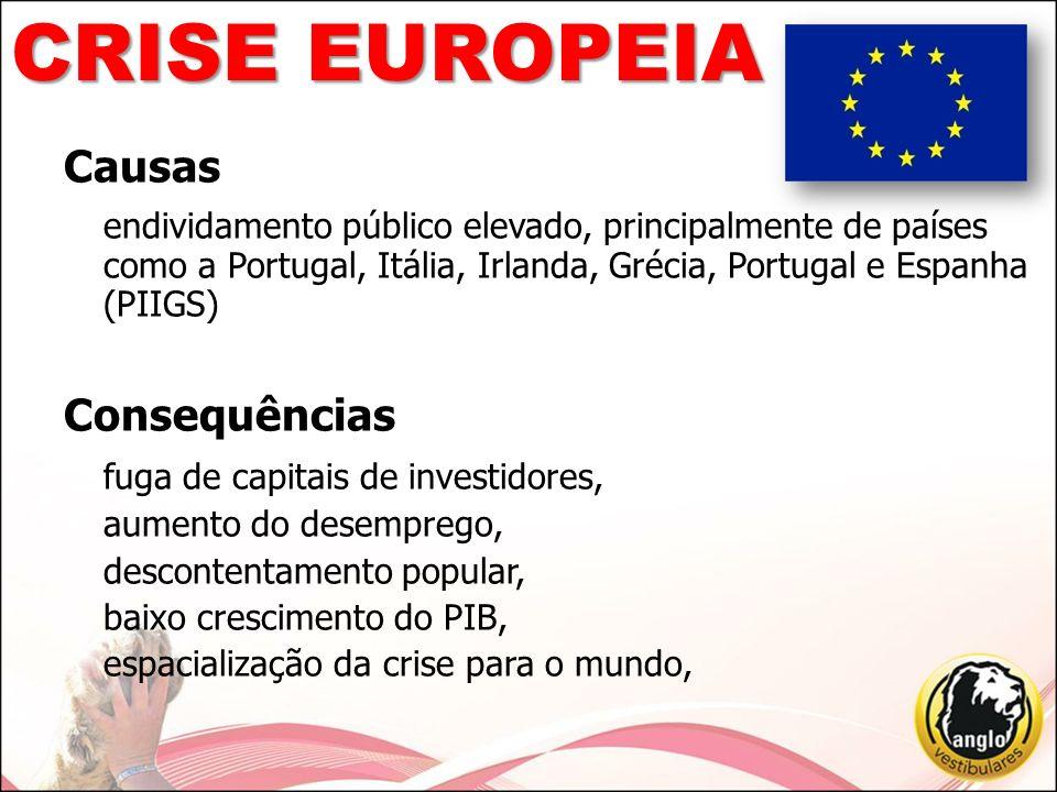 CRISE EUROPEIA Causas Consequências fuga de capitais de investidores,
