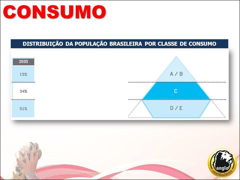 DISTRIBUIÇÃO DA POPULAÇÃO BRASILEIRA POR CLASSE DE CONSUMO