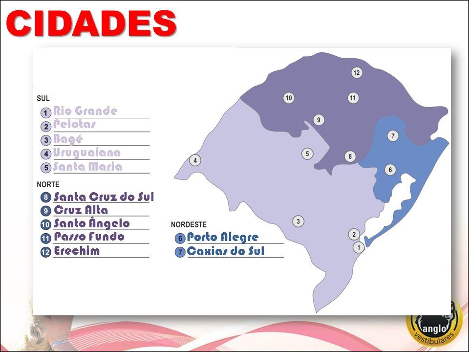CIDADES Rio Grande Pelotas Bagé Uruguaiana Santa Maria