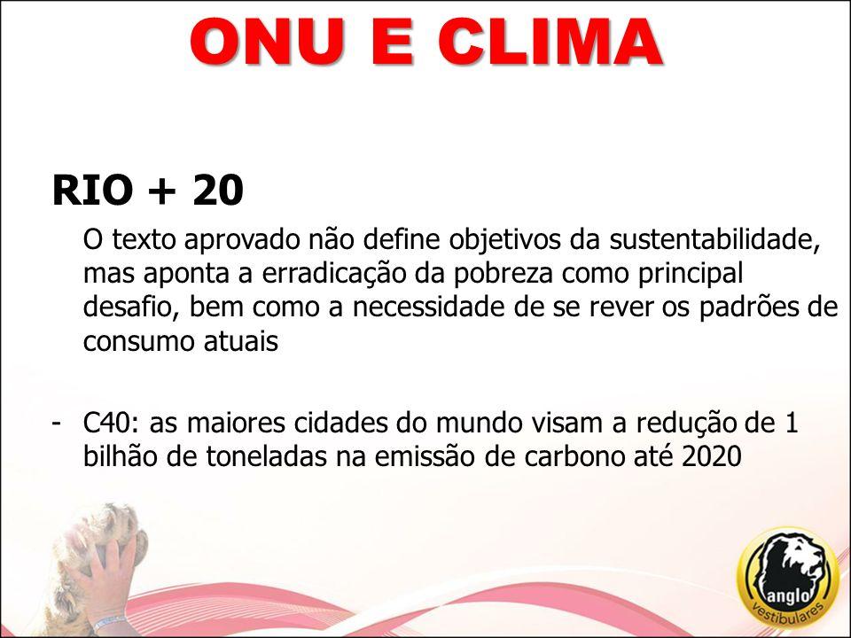 ONU E CLIMA RIO + 20.