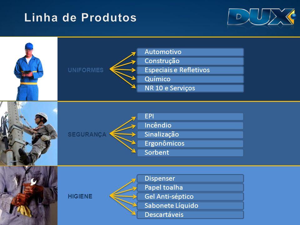 Linha de Produtos Automotivo Construção Especiais e Refletivos Químico