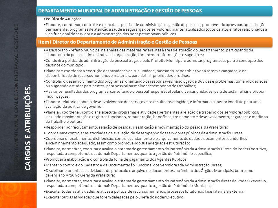 DEPARTAMENTO MUNICIPAL DE ADMINISTRAÇÃO E GESTÃO DE PESSOAS