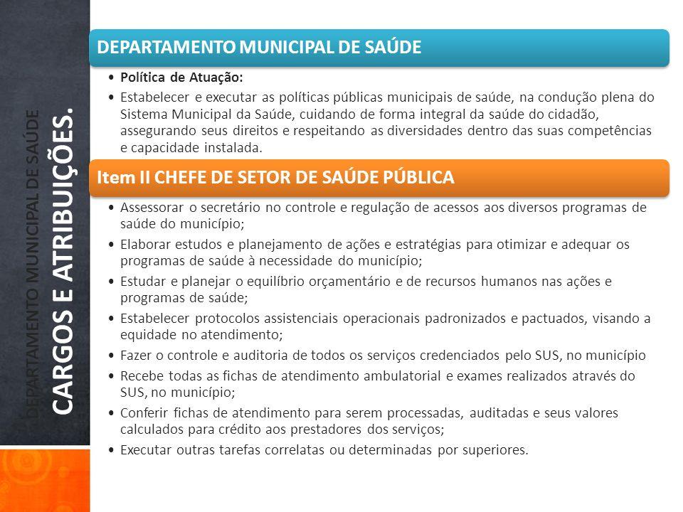 DEPARTAMENTO MUNICIPAL DE SAÚDE