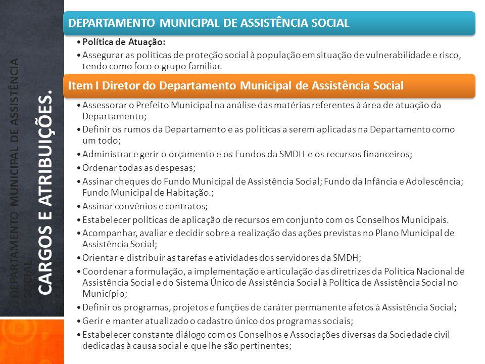 DEPARTAMENTO MUNICIPAL DE ASSISTÊNCIA SOCIAL