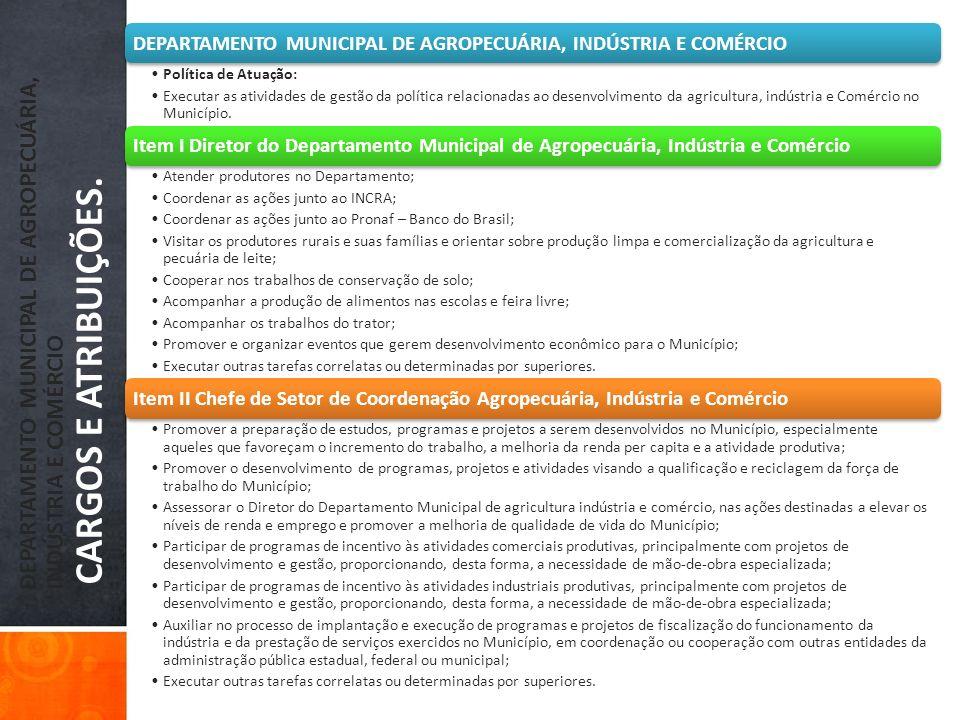 DEPARTAMENTO MUNICIPAL DE AGROPECUÁRIA, INDÚSTRIA E COMÉRCIO