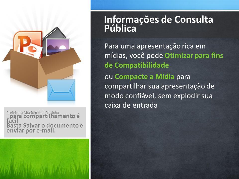 Informações de Consulta Pública
