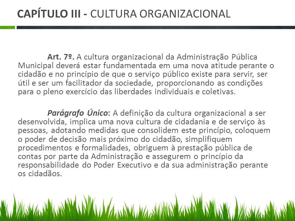 CAPÍTULO III - CULTURA ORGANIZACIONAL
