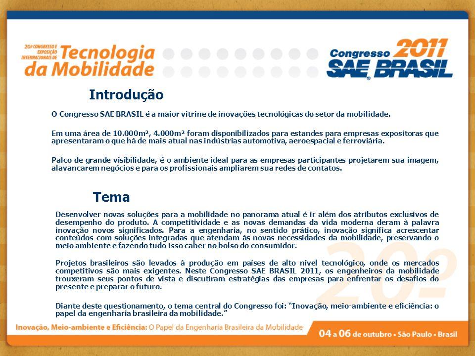 Introdução O Congresso SAE BRASIL é a maior vitrine de inovações tecnológicas do setor da mobilidade.