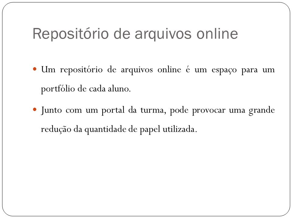 Repositório de arquivos online