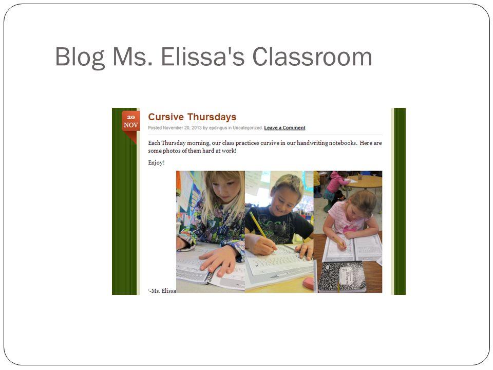 Blog Ms. Elissa s Classroom