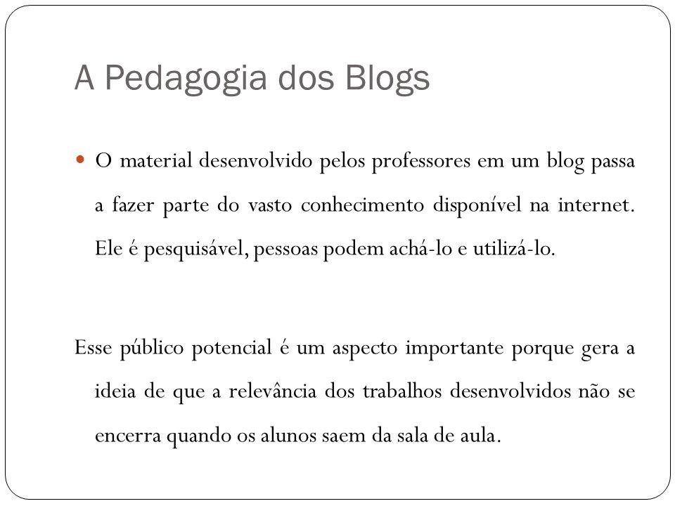 A Pedagogia dos Blogs