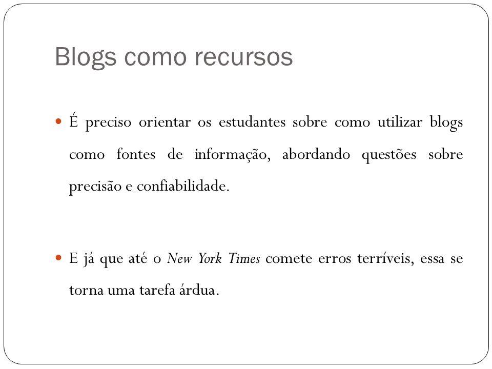 Blogs como recursos
