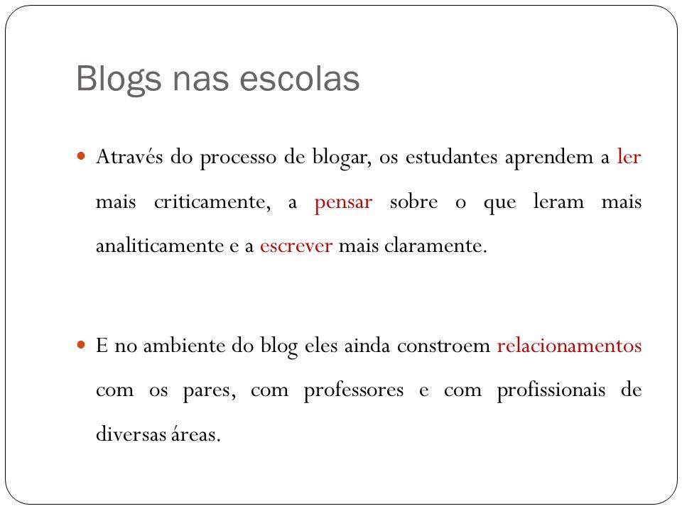 Blogs nas escolas