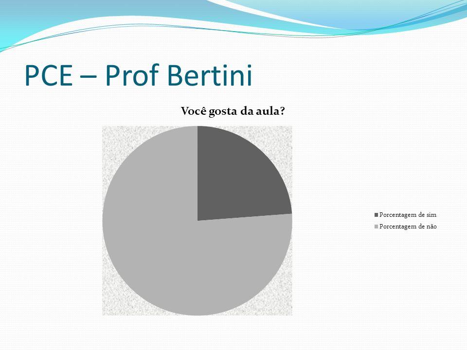 PCE – Prof Bertini