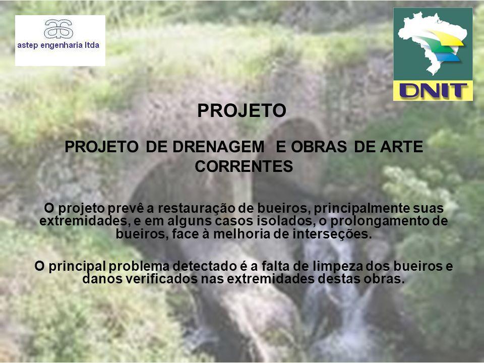 Projeto de Drenagem E OBRAS DE ARTE CORRENTES