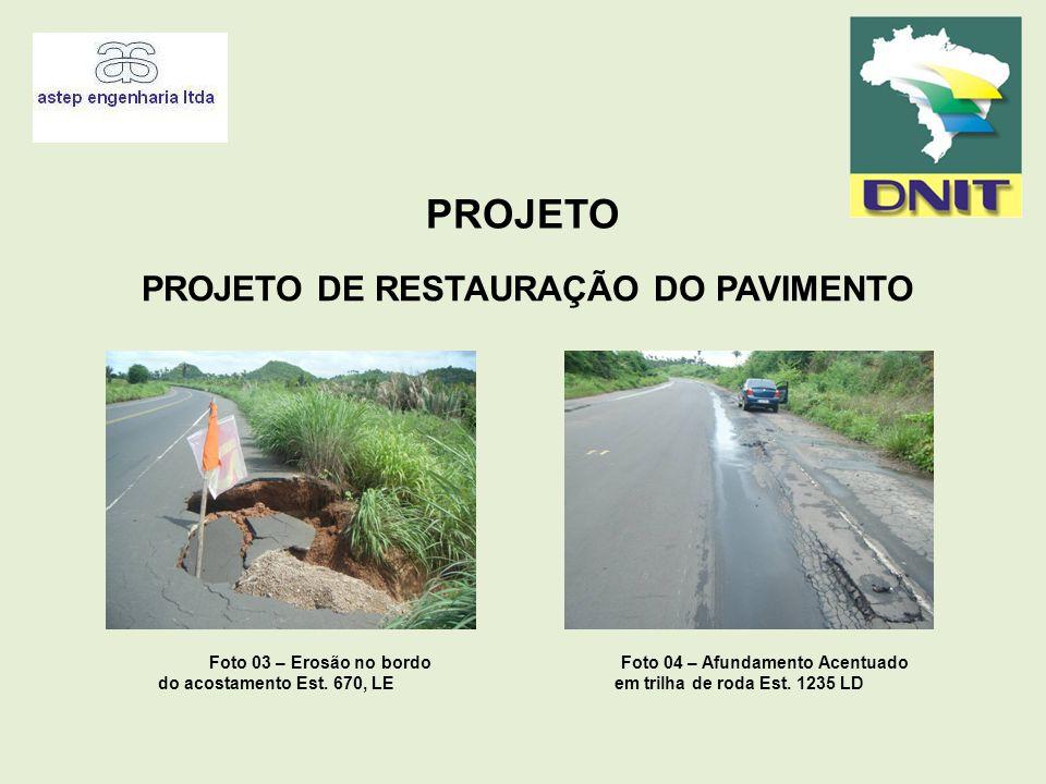 Foto 04 – Afundamento Acentuado em trilha de roda Est. 1235 LD