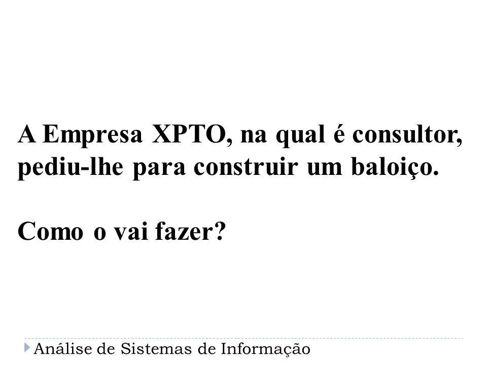 A Empresa XPTO, na qual é consultor,
