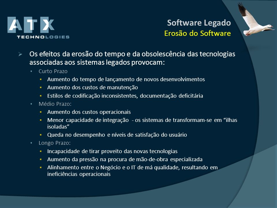 Software Legado Erosão do Software