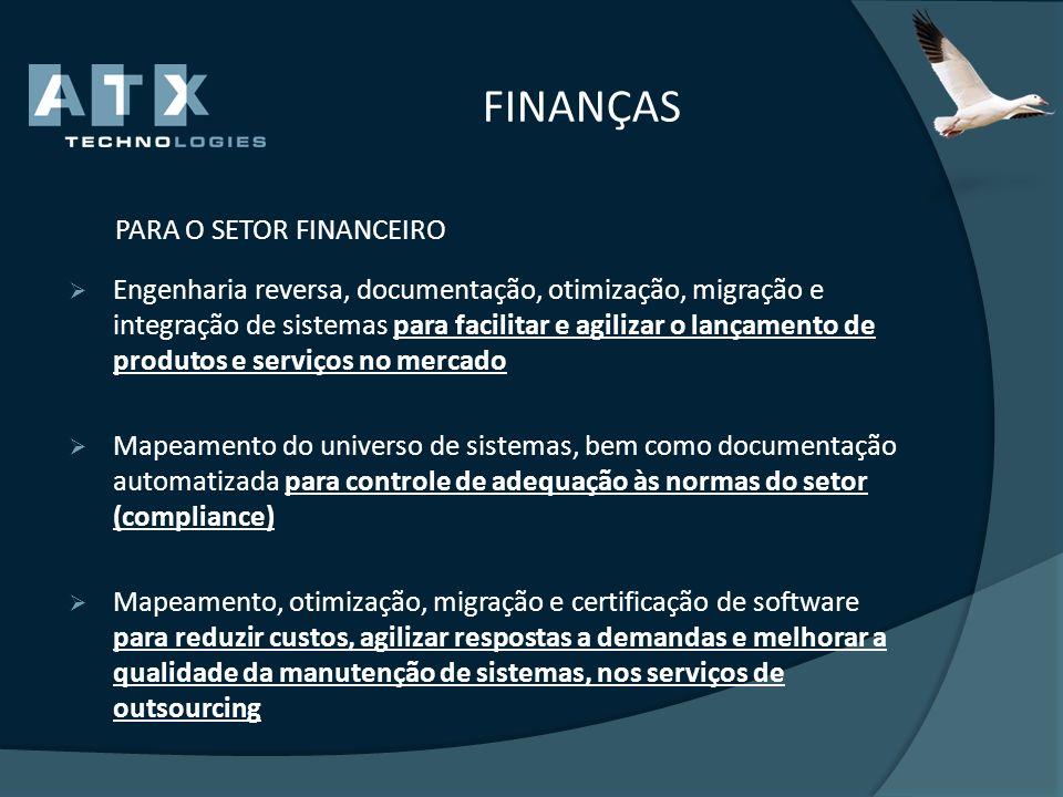 FINANÇAS PARA O SETOR FINANCEIRO