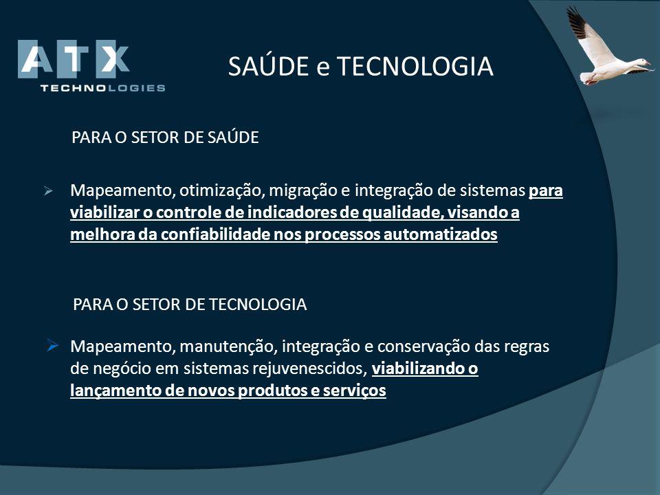 SAÚDE e TECNOLOGIA PARA O SETOR DE SAÚDE