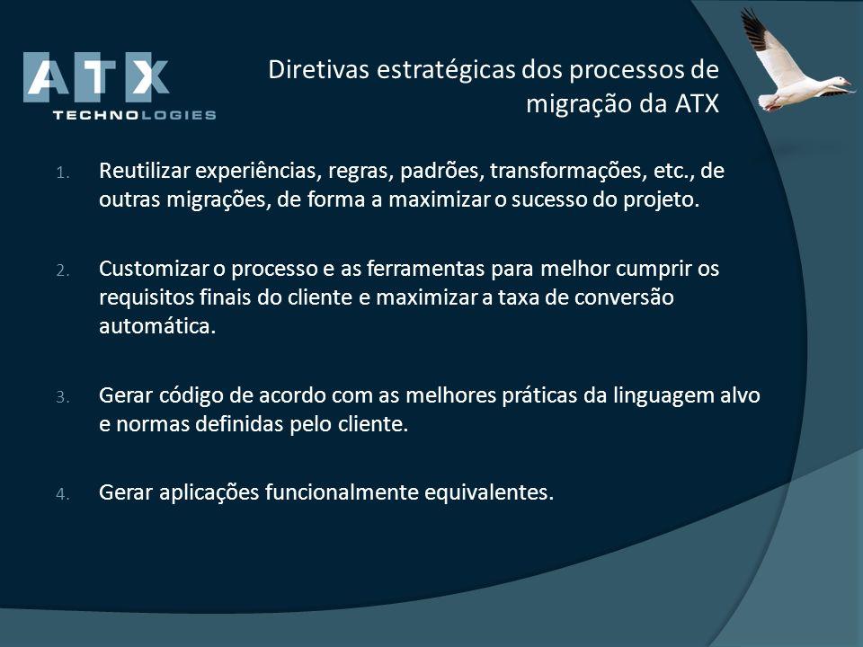 Diretivas estratégicas dos processos de migração da ATX