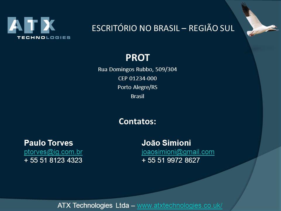 ESCRITÓRIO NO BRASIL – REGIÃO SUL