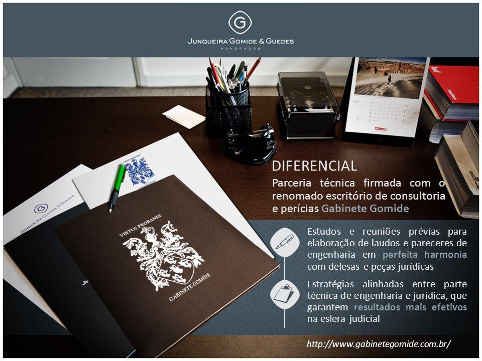 DIFERENCIAL Parceria técnica firmada com o renomado escritório de consultoria e perícias Gabinete Gomide.