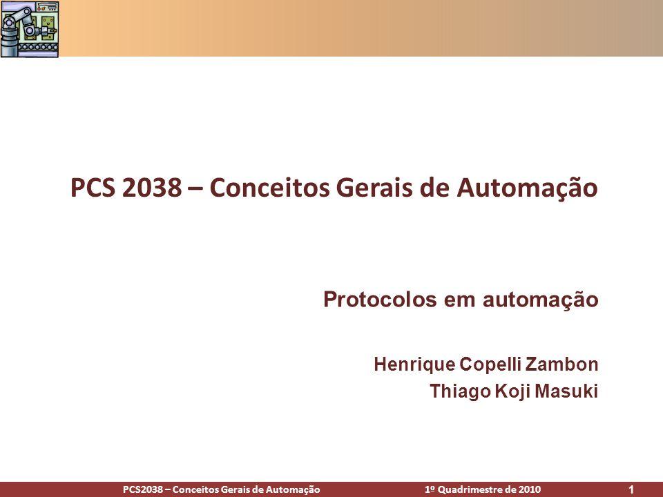 PCS 2038 – Conceitos Gerais de Automação