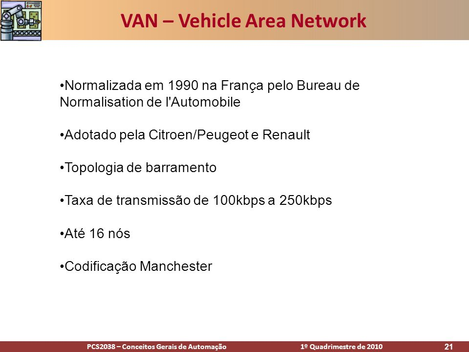 VAN – Vehicle Area Network