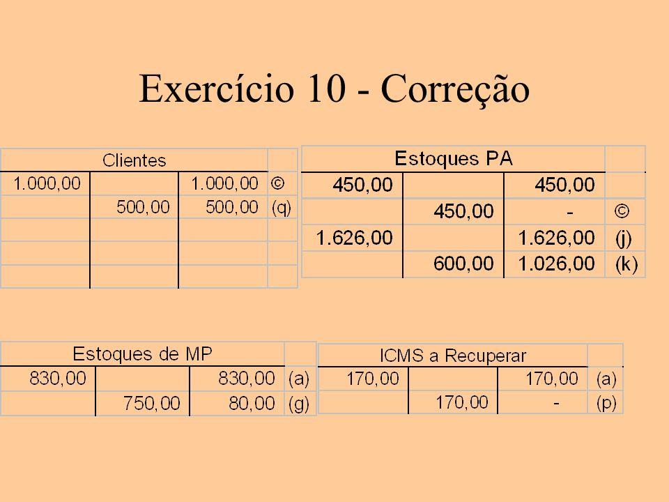 Exercício 10 - Correção