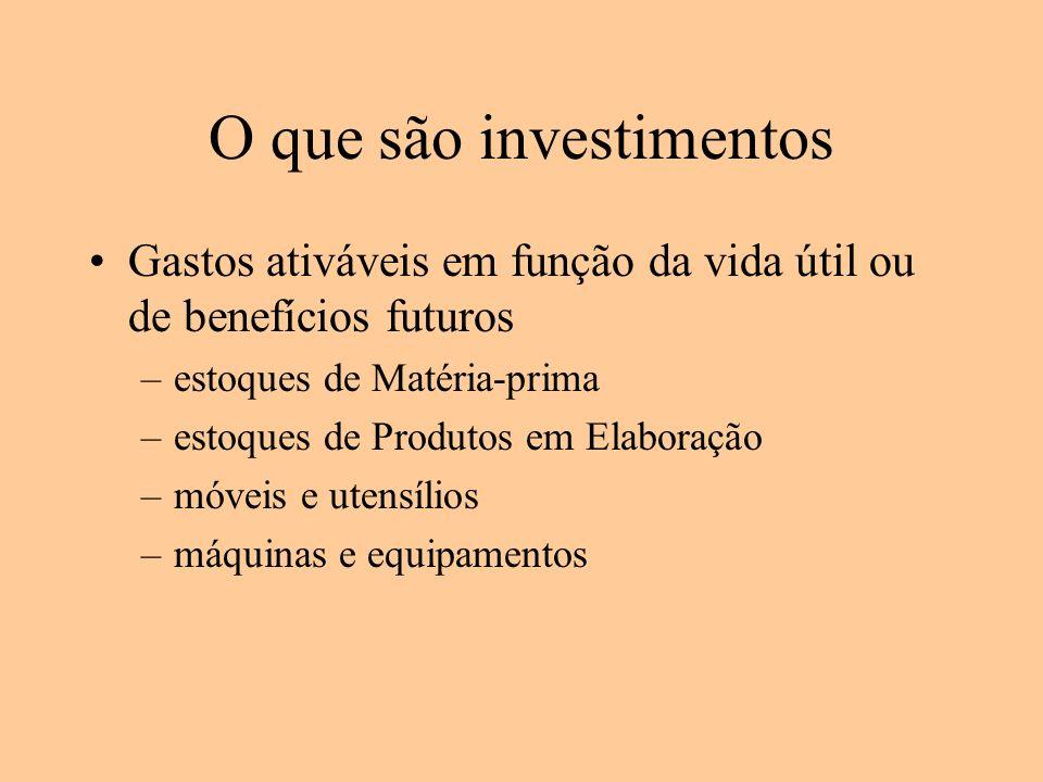 O que são investimentos