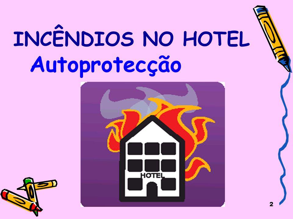 INCÊNDIOS NO HOTEL Autoprotecção