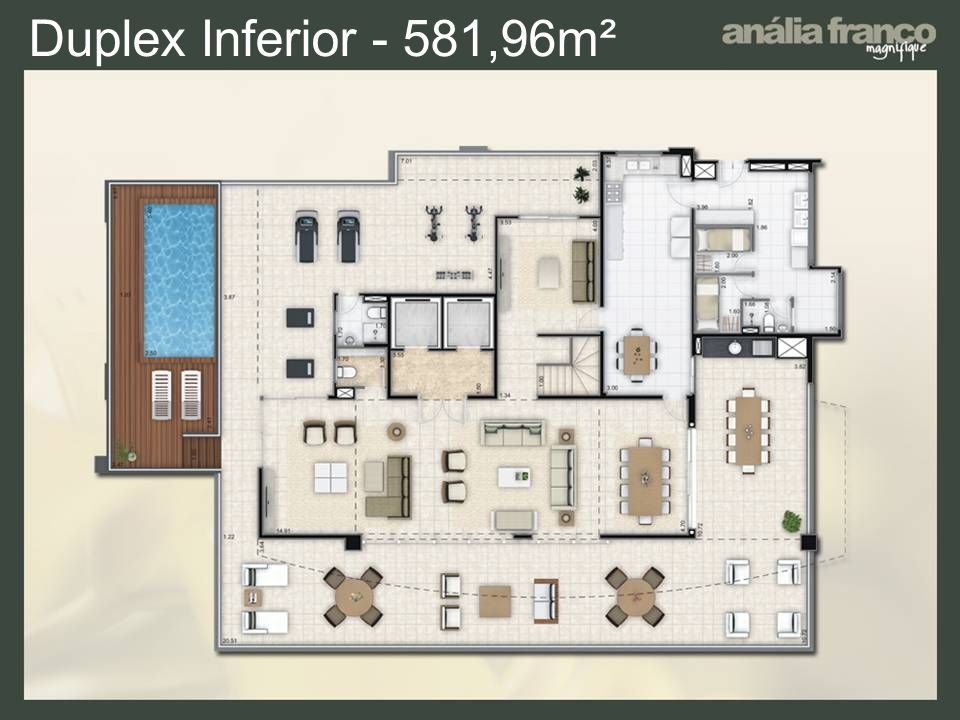 Duplex Inferior - 581,96m²