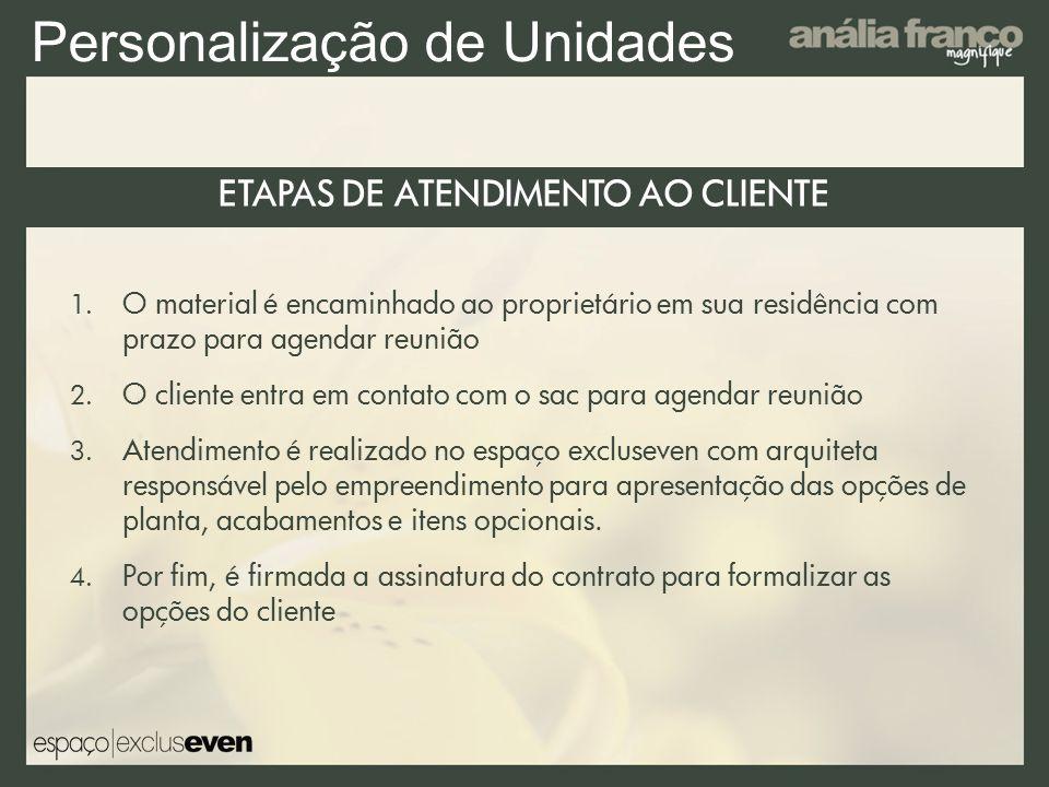 ETAPAS DE ATENDIMENTO AO CLIENTE