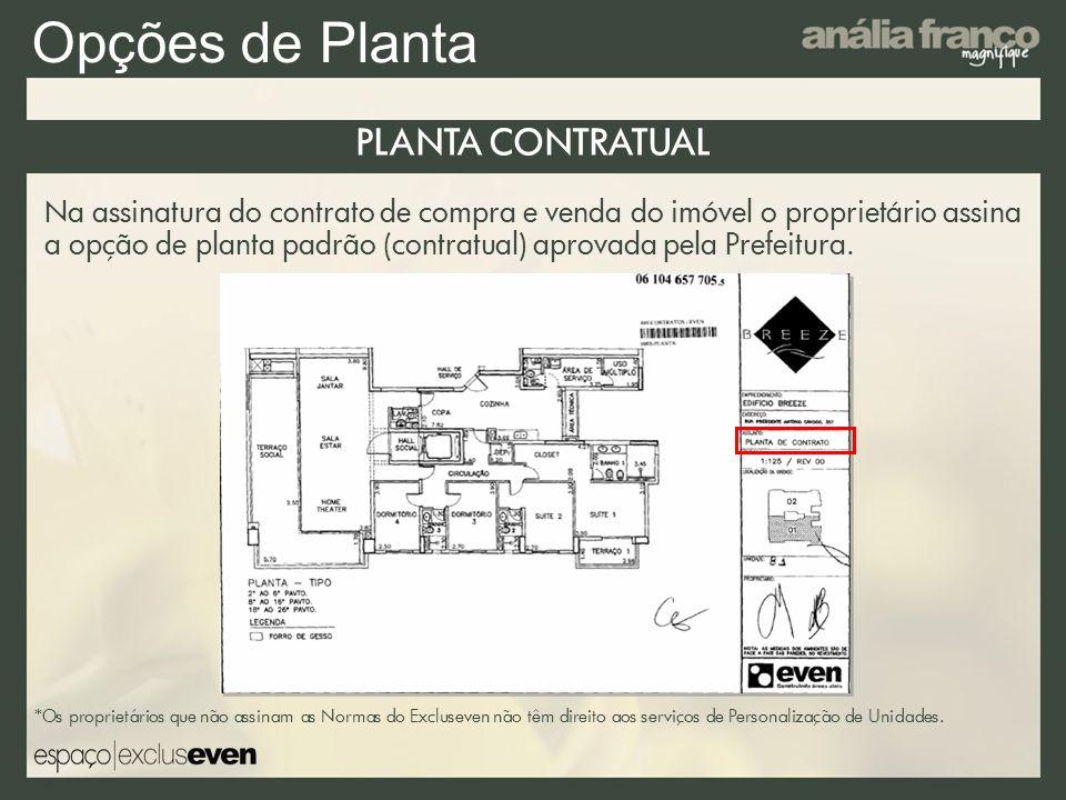 Opções de Planta PLANTA CONTRATUAL