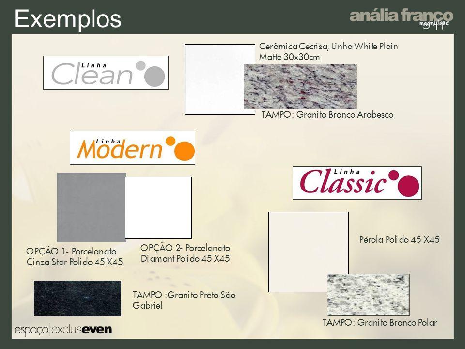 Exemplos Cerâmica Cecrisa, Linha White Plain Matte 30x30cm