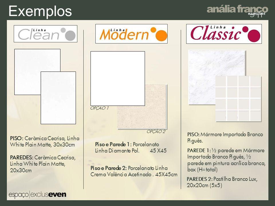 Exemplos PISO: Cerâmica Cecrisa, Linha White Plain Matte, 30x30cm