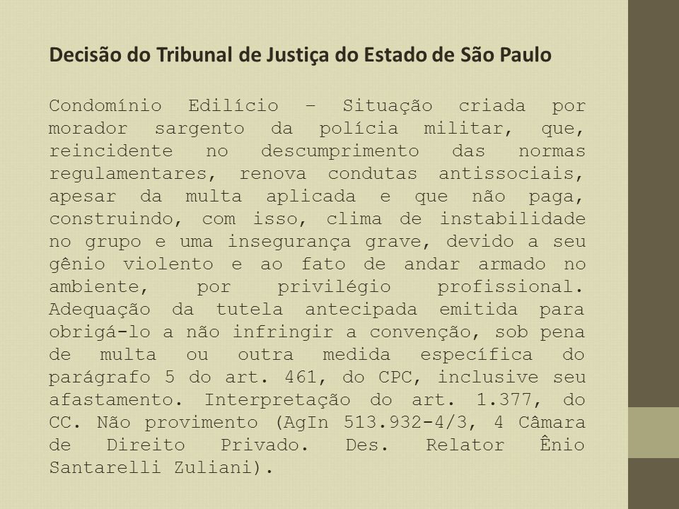 Decisão do Tribunal de Justiça do Estado de São Paulo