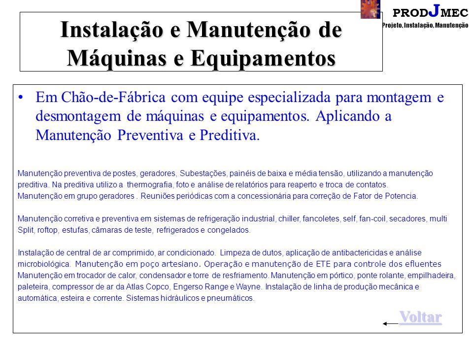 Instalação e Manutenção de Máquinas e Equipamentos