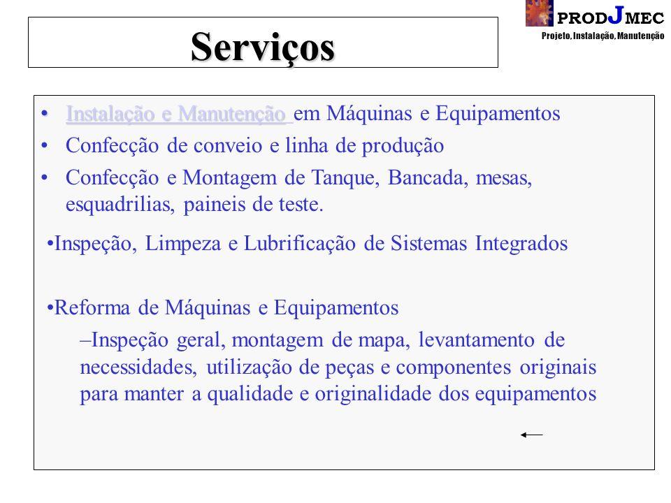 Serviços Instalação e Manutenção em Máquinas e Equipamentos