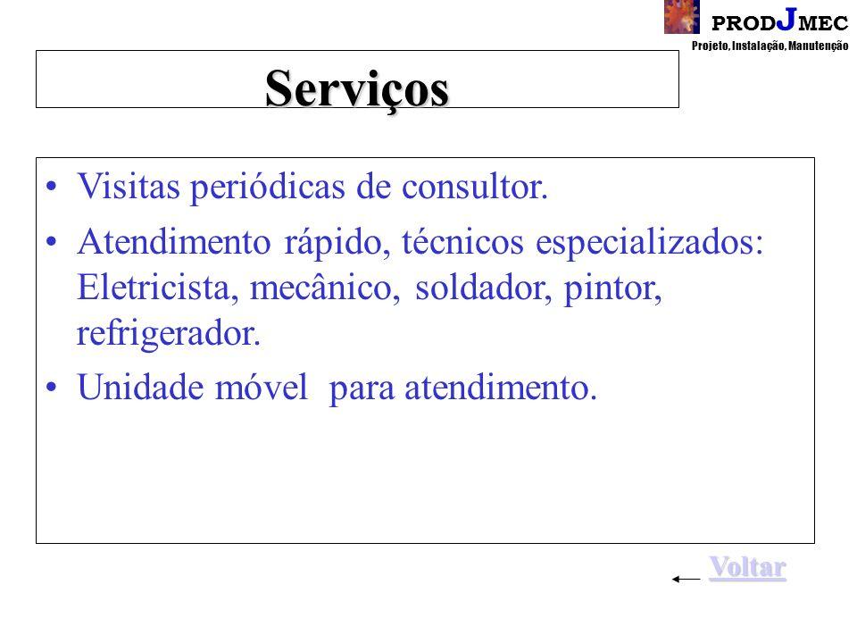 Serviços Visitas periódicas de consultor.