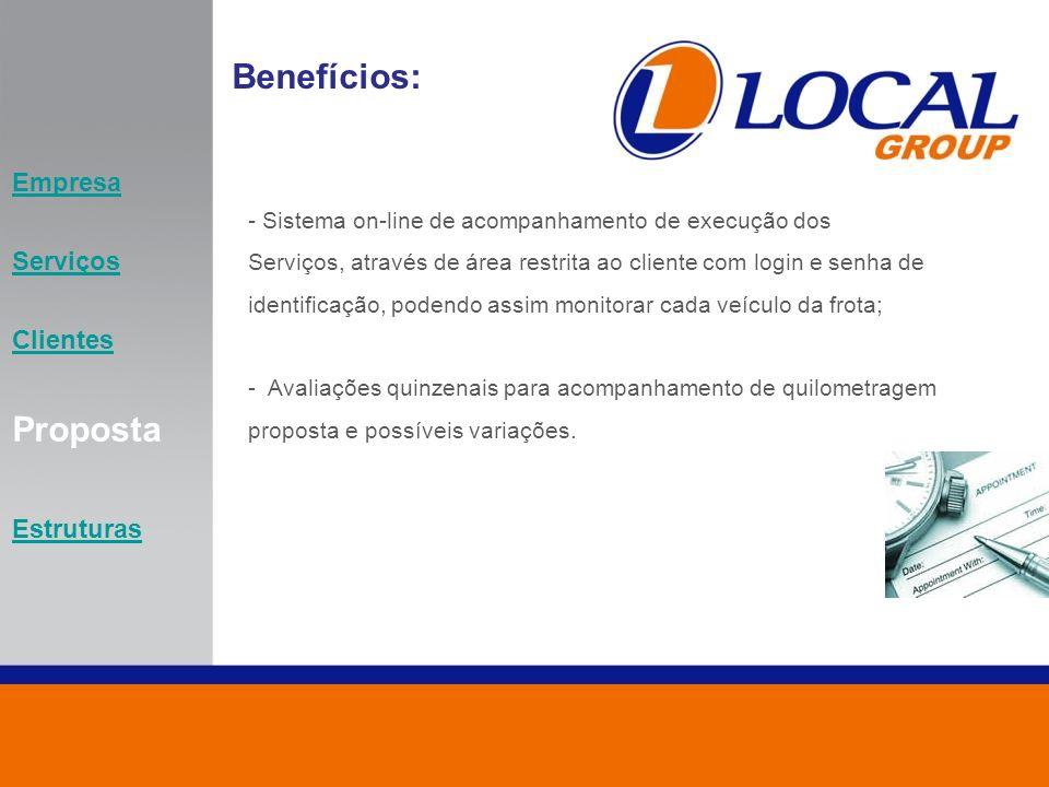 Benefícios: Proposta Empresa Serviços Clientes Estruturas