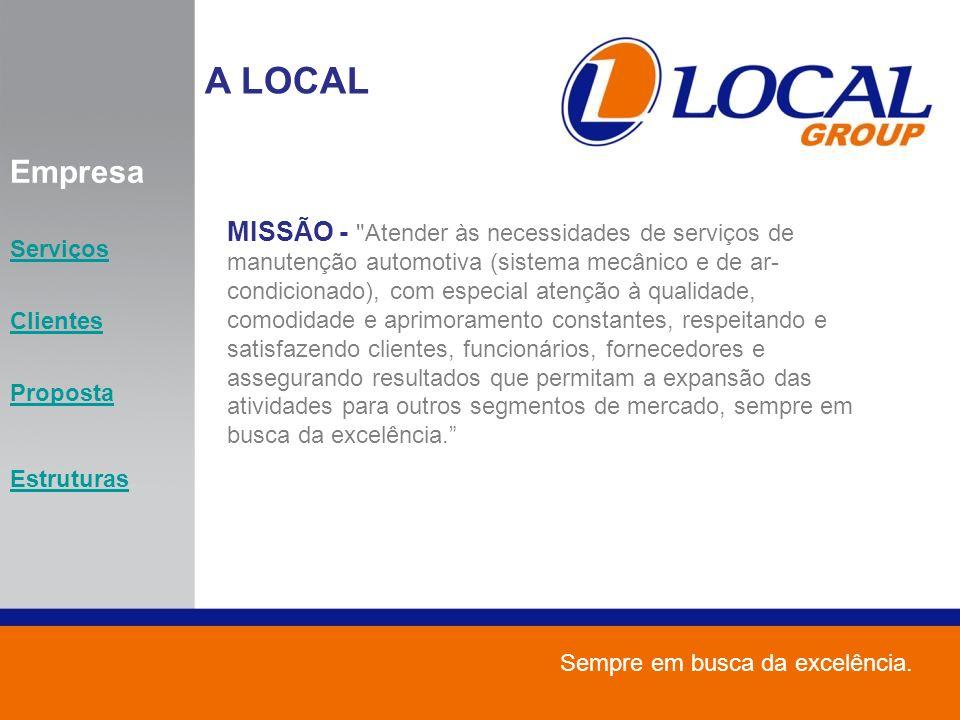 A LOCAL Empresa. Serviços. Clientes. Proposta. Estruturas.